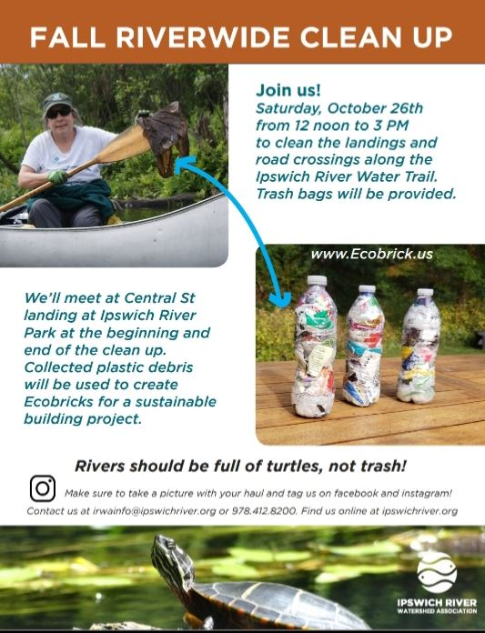 Ipswich River Watershed Association - Fall Riverwide clean up 10-26-2019