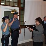 New Police Officers Being Sworn In
